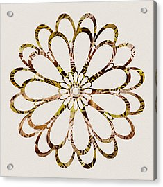 Floral Design Ornament Acrylic Print by Frank Tschakert