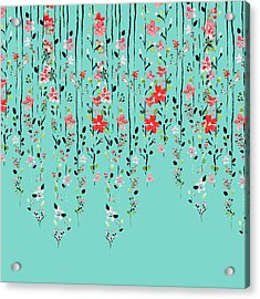 Floral Dilemma Acrylic Print by Uma Gokhale