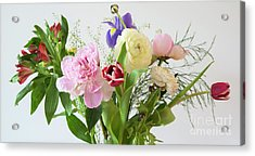 Acrylic Print featuring the photograph Floral Display by Wendy Wilton