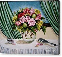 Floral Essence Acrylic Print by Elizabeth Robinette Tyndall