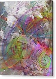 Floral Fantasy Acrylic Print by John Robert Beck