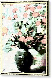 Floral Images Acrylic Print by HollyWood Creation By linda zanini