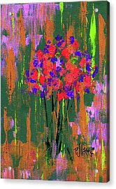 Acrylic Print featuring the painting Floral Impresions by P J Lewis