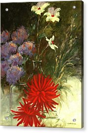 Floral Medley Acrylic Print by Madeleine Holzberg