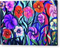 Floral No. 1 Acrylic Print by Jeanette Stewart