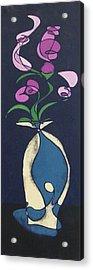 Floral On Indigo Acrylic Print
