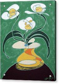 Floral On The Edge Acrylic Print
