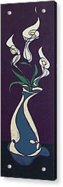 Floral On Violet Acrylic Print