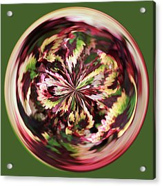 Floral Orb Acrylic Print by Bill Barber