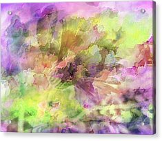 Floral Pastel Abstract Acrylic Print