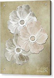 Floral Pattern Acrylic Print by Judy Hall-Folde