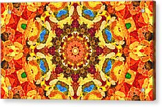 Mandala Of The Sun Acrylic Print
