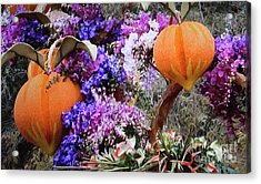 Acrylic Print featuring the photograph Floral Peaches by Linda Phelps