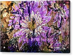 Acrylic Print featuring the digital art Floral Poetry Of Time by Silva Wischeropp