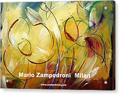 Floral Poster Acrylic Print by Mario Zampedroni