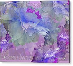 Floral Potpourri With Peonies 4 Acrylic Print
