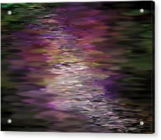Floral Reflections Acrylic Print by Sandra Bauser Digital Art