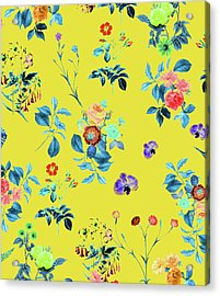 Floral Shower II Acrylic Print