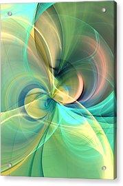 Floral Silk Abstract Acrylic Print