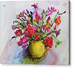 Acrylic Print featuring the painting Floral Still Life 05 by Linde Townsend