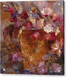 Floral Still Life Pinks Acrylic Print
