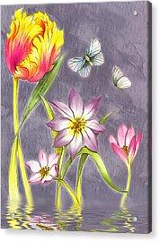 Floral Supreme Acrylic Print by Mario Carini