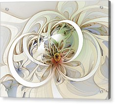 Floral Swirls Acrylic Print