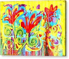 Floral Swirls Acrylic Print by Pauline Ross