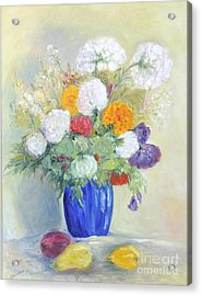 Acrylic Print featuring the painting Floral Symphonie by Barbara Anna Knauf