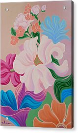 Floral Symphony Acrylic Print by Irene Hurdle