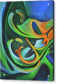 Floralblue Acrylic Print