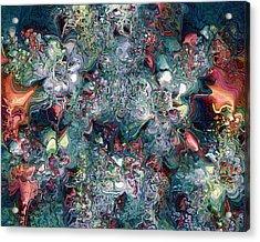 Acrylic Print featuring the digital art Floralia by Charmaine Zoe