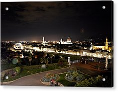 Florence At Night Acrylic Print