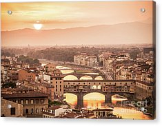 Florence At Sunset Acrylic Print