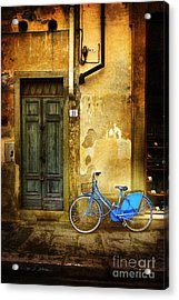Acrylic Print featuring the photograph Florence Blue Bicycle by Craig J Satterlee