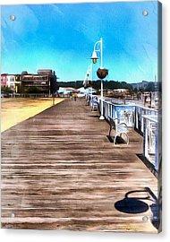 Florence Boardwalk Acrylic Print