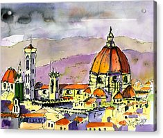 Florence Cathedral Italy Acrylic Print by Ginette Callaway