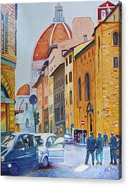Florence Going To The Duomo Acrylic Print