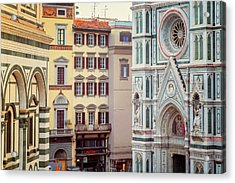 Acrylic Print featuring the photograph Florence Italy View by Joan Carroll