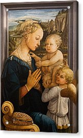 Florence - Madonna And Child With Angels- Filippo Lippi Acrylic Print