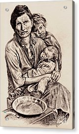 Florence Owens With Children Acrylic Print