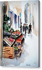 Florence Street Market Acrylic Print by Neva Rossi