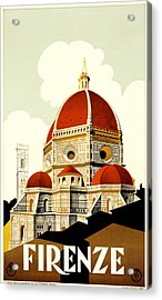 Florence Travel Poster Acrylic Print by Italian School