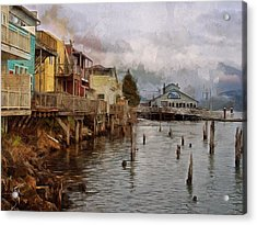 Scene On The Siuslaw  Acrylic Print