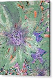 Flores De Amor Acrylic Print by Anne-Elizabeth Whiteway
