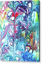 Acrylic Print featuring the mixed media Florescence by Tom Druin
