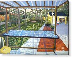 Florida Backyard Acrylic Print by Blaine Filthaut