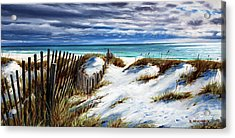 Acrylic Print featuring the painting Florida Beach by Rick McKinney