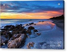 Florida Beach Sunset 3 Acrylic Print