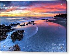Florida Beach Sunset 4 Acrylic Print